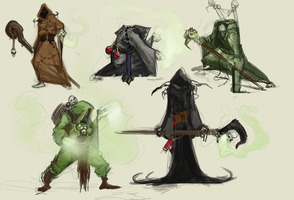 Plague Priest Thumbnails by Erebus88