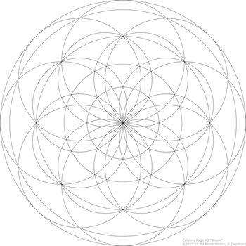 Coloring Page #2 'Bloom' by fewilcox