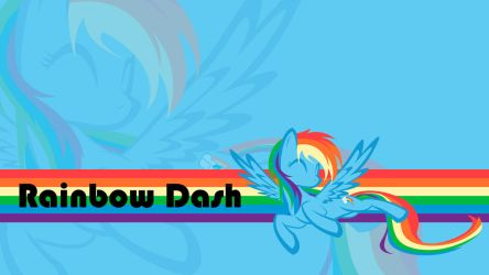 Rainbow Dash wallpaper by Simmemann
