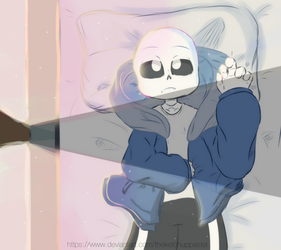 [Undertale] i don't feel like getting up. by TheKetchupPastel