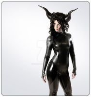 Latex Catsuit by Ego Assassin with Archean by my-over-exposure