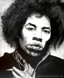 Jimi Hendrix by BannerGraphics