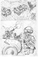 Motorsyko Issue 2 Page 1 pencils by Fusciart