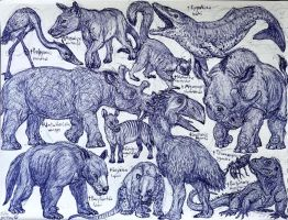Paleocene and Eocene Animals by MickeyRayRex