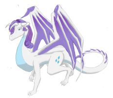 Draconified Rarity by Silverthe-Dragon