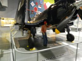 EAA museum's LS corsair on carrier deck dio 3 by luigiswayze