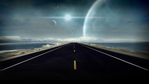 Island Road On Another World by wallybescotty