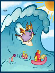 (Spyro) Surf's Up! by KrazyKari