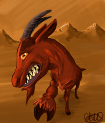 Evil goat by Cactusss