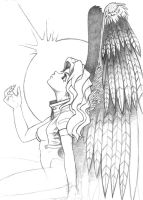 winged girl by wender