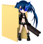 Black Rock Shooter Folder Icon [1] by Hinatka3991