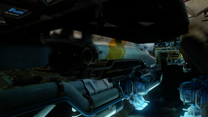 A submarine in halo 5  guardians by GhostHuckebein