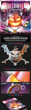 Halloween Dj Party Flyer by saltshaker911