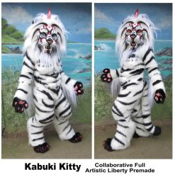 Kabuki Kitty - soon to be for sale by LilleahWest