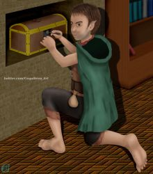 DnD Neverwinter - Halfling Rogue (OC) by Fractalico