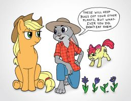 Judy and the Apples (SPOILER) by JohnRaptor