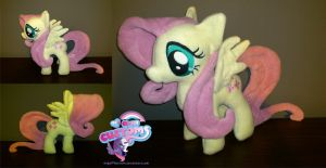 Fluttershy plushie by angel99percent