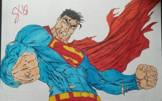 Superman Copic completed by andyosu20
