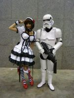 Alodia and Me as Storm Trooper by ReyNathanael