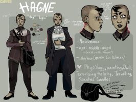 HAGNE CHARACTER REF SHEET by GLIBRIBS