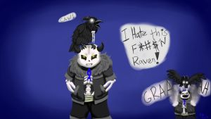 DemiSans with that Ever watching Raven -wallpaper- by catgir