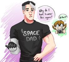 Space Dad Shirt by Purplepanther7