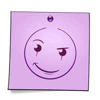 Post-It Smiley: The Witch by mondspeer