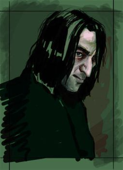 Snape_portrait_WIP by Galleth