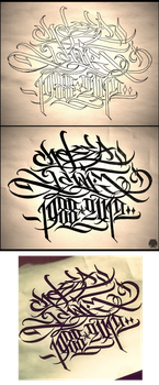 My calligraphy / for tattoo by Wator