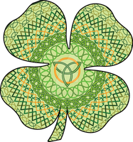 Celtic Four-Leaf Clover by vhartley