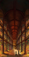 Library Between Worlds by anqila