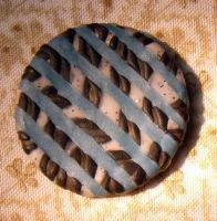 Black and Blue Clay Cabochon by Kyle-Lefort