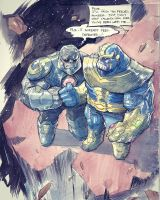 Thanos  Darkseid  by COLOR-REAPER