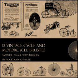 12 Vintage Cycle PS Brushes by FidgetResources
