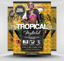 Free Summer Tropical Beach Party Flyer Template by quickandeasy1