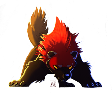 Red Beast puffin by Astarcis