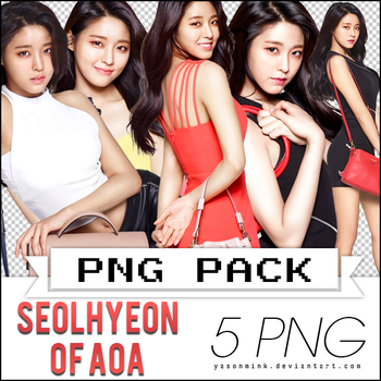 Renders' pack with Seolhyeon of AOA (for 'HAZZYS') by yasonmink