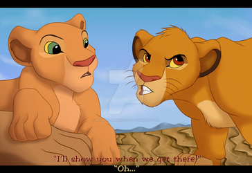 Off to  adventure (Lion King screenshot) by Wonderlandawaitsus