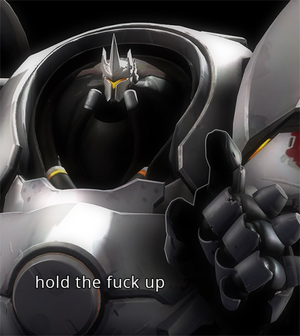 Reinhardt Hold The Fuck Up by GojiBob