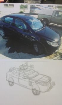 WIP my Mad Max VW Voyage by DingoPatagonico