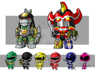 Lil Zords and Rangers by KevinRaganit