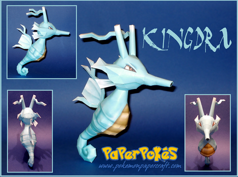 Kingdra Papercraft by Skeleman