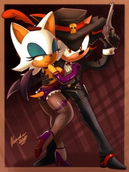 Rouge+Belle+ and Shadow+Jesse+ by nancher