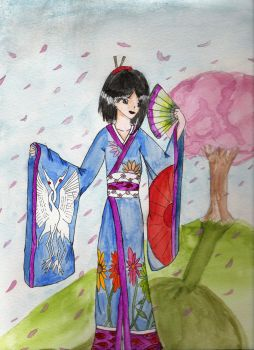 Blossoming Geisha by Anime-Angel1259