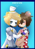GOLDEN y FREDDY #FNAFHSYUME - ABRAZO by BlanKury