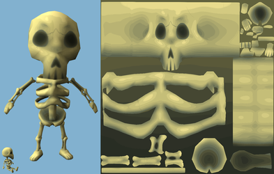 Skeleton Dude UV Map by SlayersStronghold