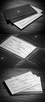Black and White Business Card by FlowPixel