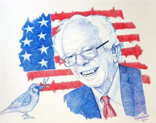 Bernie Sanders by OMKDrawings