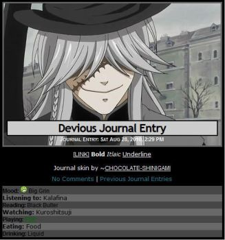 Undertaker Journal Skin by Chocolate-Shinigami