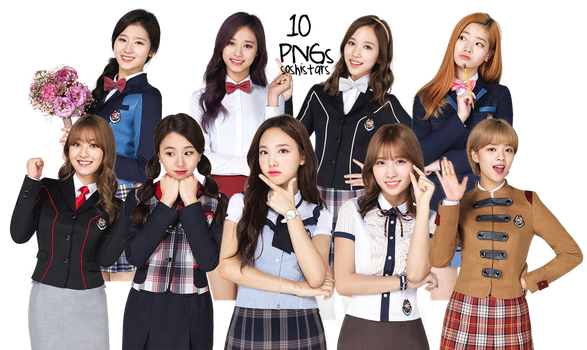 TWICE PNG Pack {SKOOLOOKS} HD by soshistars